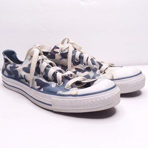 Converse All Star Blue Camo Sneakers size M8/W10